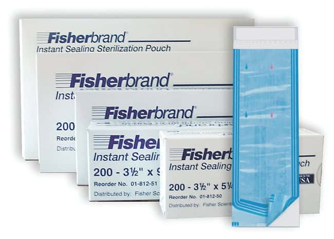 Fisherbrand Instant Sealing Sterilization Pouches 3.5 x 9 in.:Gloves, Glasses