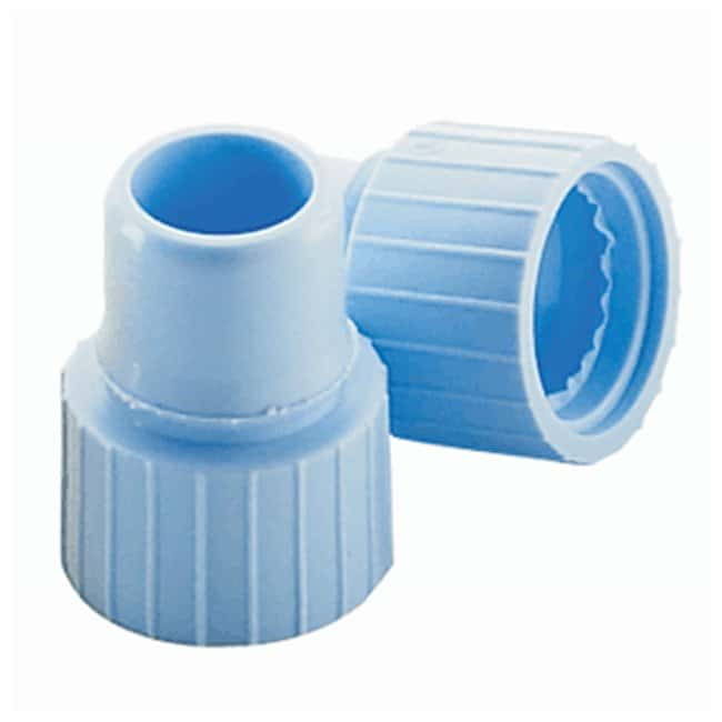 DWK Life Sciences Wheaton Snap Plug Caps With starburst; Color: Blue; 8mm