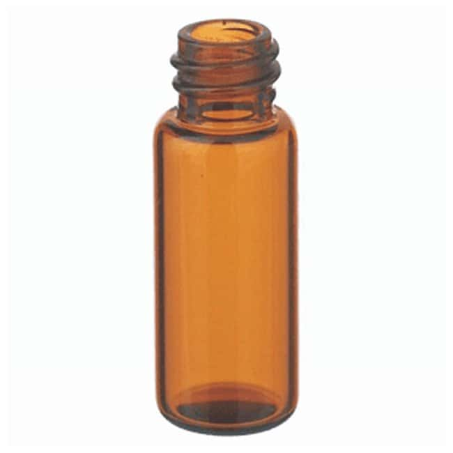 DWK Life Sciences Wheaton™ E-C Borosilicate Glass Screw Thread Sample Vials without Caps Amber; GPI Thread: 8-425; 1.5mL DWK Life Sciences Wheaton™ E-C Borosilicate Glass Screw Thread Sample Vials without Caps