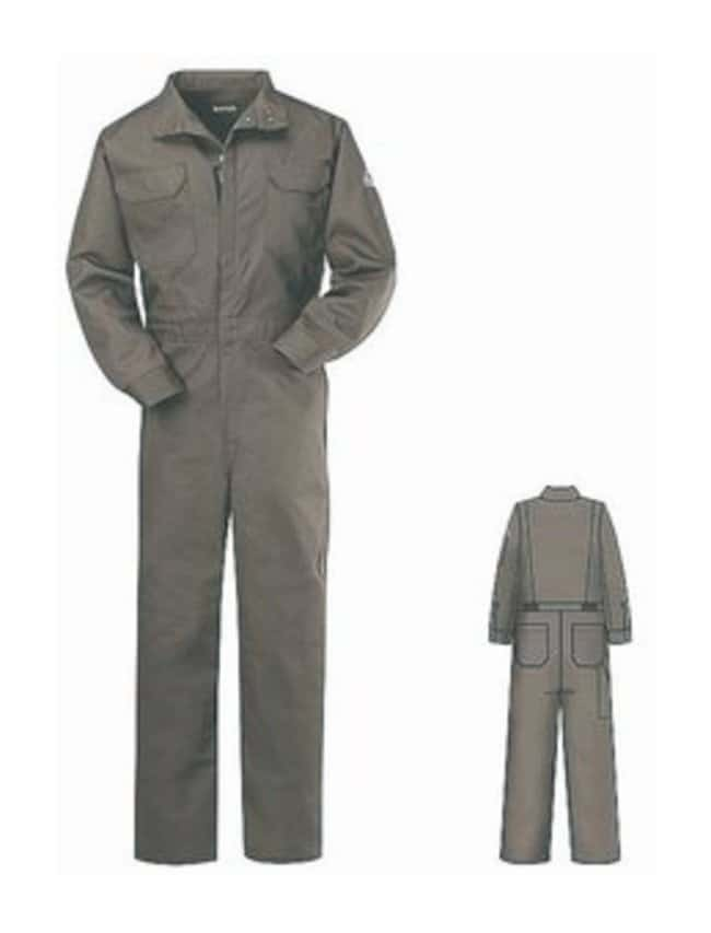 VF Workwear Bulwark Excel 8-Pocket Deluxe Coverall Regular; Gray; Size: