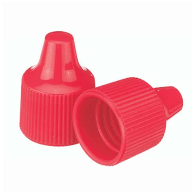 DWK Life Sciences Wheaton™ Polypropylene Caps for Wheaton Dropping Bottles - Red
