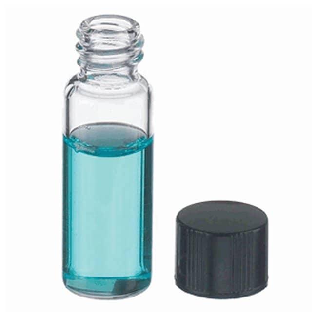 DWK Life SciencesWheaton™ E-C Borosilicate Glass Screw Thread Sample Vials with Rubber-Lined Caps Clear; GPI Thread Finish: 8-425; Capacity: 2mL DWK Life SciencesWheaton™ E-C Borosilicate Glass Screw Thread Sample Vials with Rubber-Lined Caps