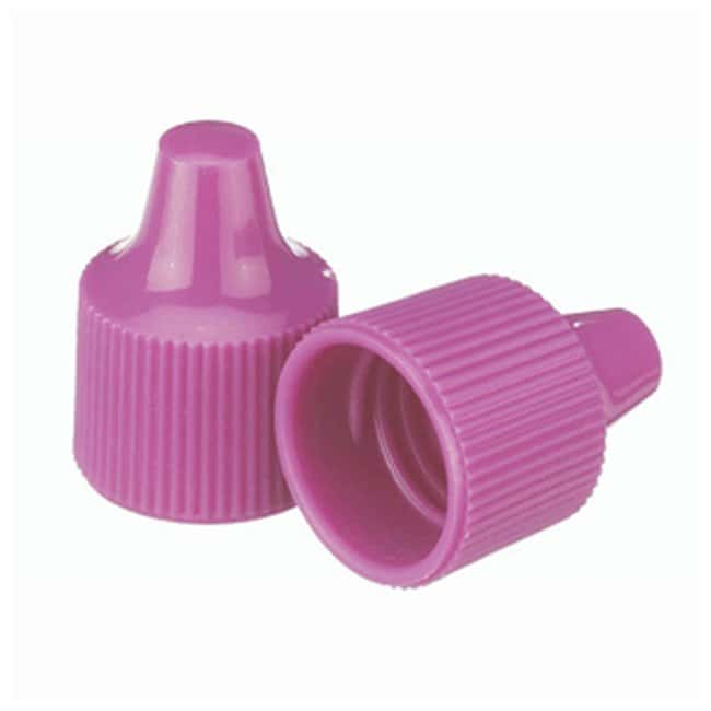 DWK Life Sciences Wheaton™ Polypropylene Caps for Wheaton Dropping Bottles - Purple