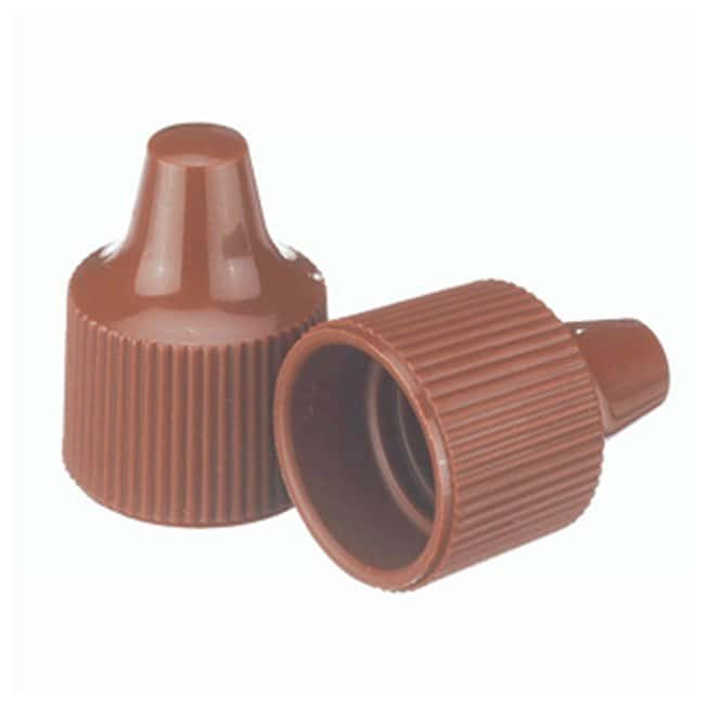 Wheaton  Polypropylene Caps With Dropper Tips - Brown