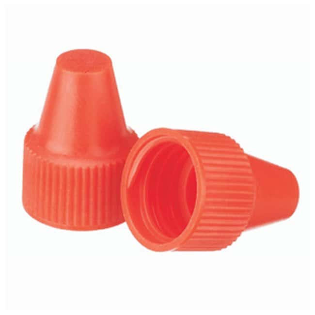 DWK Life Sciences Wheaton™ Polypropylene Caps for Wheaton Dropping Bottles - Orange Screw cap size: 13-425; 1000/Cs. DWK Life Sciences Wheaton™ Polypropylene Caps for Wheaton Dropping Bottles - Orange