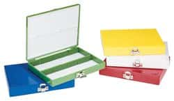 REFURBISHHOUSE Royal Blue Plastic Rectangle Hold 100 Microslide Slide Microscope Box
