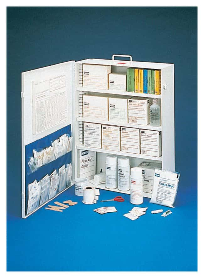 Honeywell North O/H Pak First Aid Cabinets Medium Filled First Aid Cabinet;
