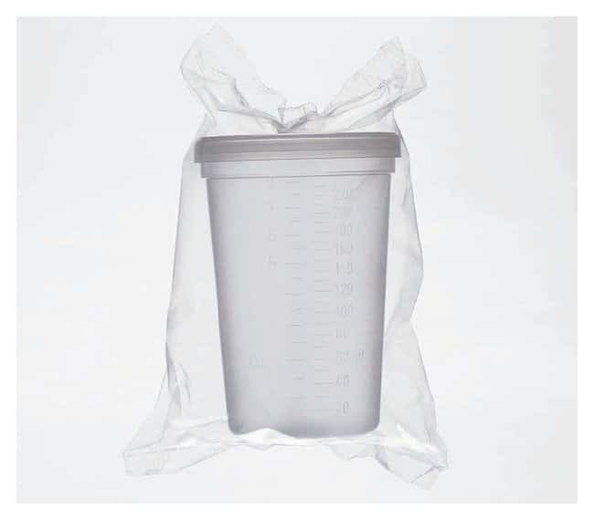Fisherbrand™ Polypropylene Graduated Specimen Containers With lid; Sterile; Capacity: 8.0 oz. (237mL) Fisherbrand™ Polypropylene Graduated Specimen Containers