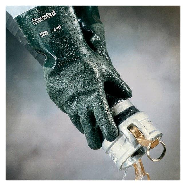 Ansell AlphaTec 04-414 PVC-Nitrile Blend Coated Gauntlet Gloves:Gloves,