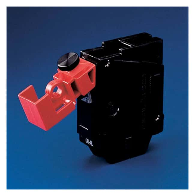 "Brady™ ""No Hole"" Clamp-On Breaker Lockout Clamp-On breaker lockouts; 120/277V; 6/Pk. Brady™ ""No Hole"" Clamp-On Breaker Lockout"