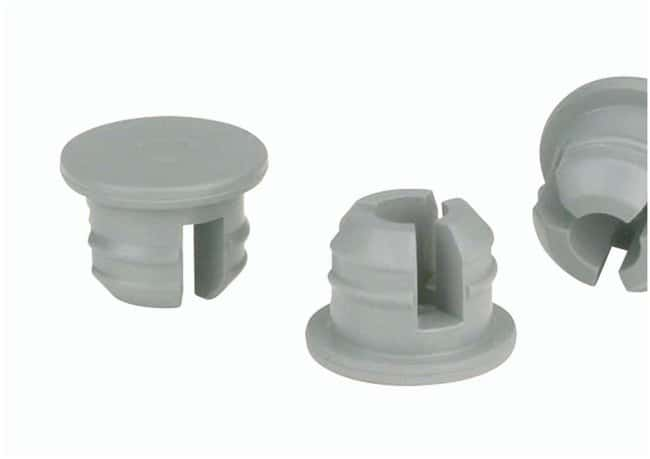 DWK Life Sciences Wheaton™ Stoppers for Serum Bottles and Vials: Thin Flange Stopper Thin Flange, 3-leg Plug; Gray Chlorobutyl/55; Dia.: 20mm Rubber Stoppers and Rubber Plugs