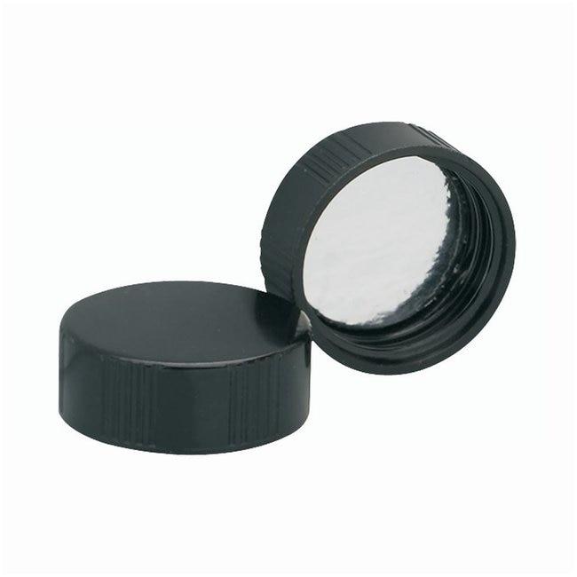 DWK Life SciencesTapón de rosca fenólico negro con revestimiento de lámina metálica Tamaño del tapón: 33mm-400 DWK Life SciencesTapón de rosca fenólico negro con revestimiento de lámina metálica