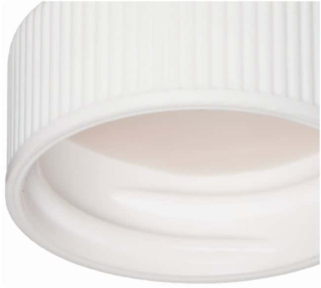 DWK Life Sciences Wheaton™ White Polypropylene Screw Caps with bonded PTFE Faced Silicone Liner for E-Z Ex-Traction™ Vials: Home