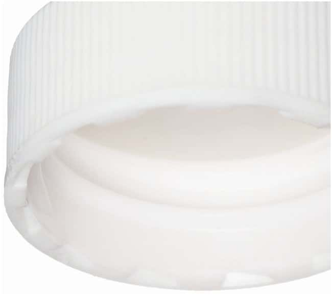 DWK Life Sciences Wheaton™ White Polypropylene Screw Caps with bonded PTFE Faced Silicone Liner for E-Z Ex-Traction™ Vials Fits 20mL vials; Cap size: 24mm-400; 100/Cs. Products