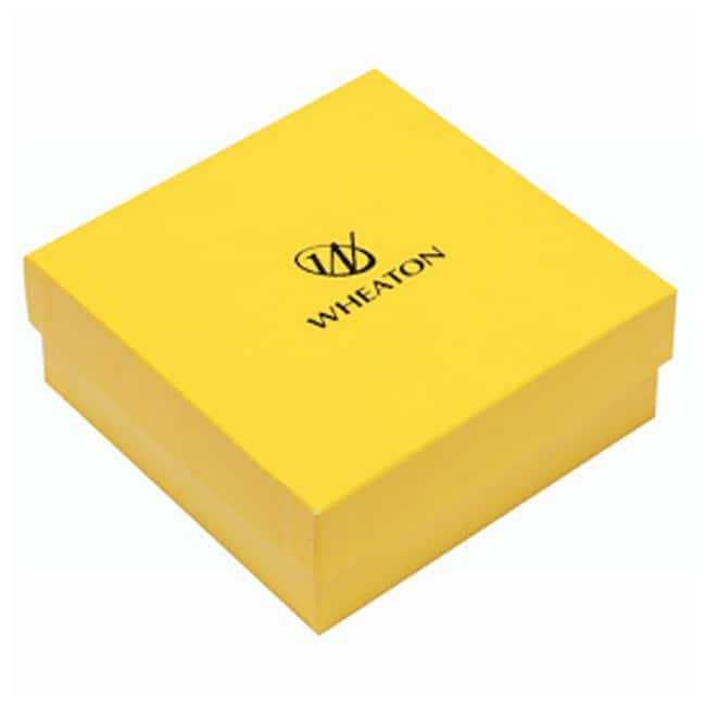 DWK Life Sciences Wheaton™ CryoFile™ and CryoFile XL™ Storage Boxes For 1.2 and 2mL vials; Yellow; 130L × 130W × 52mm H DWK Life Sciences Wheaton™ CryoFile™ and CryoFile XL™ Storage Boxes
