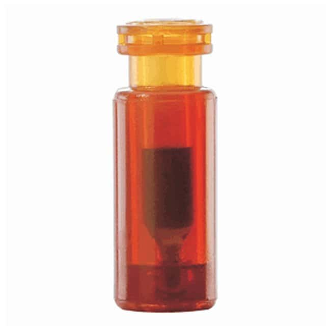 DWK Life Sciences Wheaton™ 12 x 32mm Glass/Plastic Vials with 0.1mL Limited Volume Insert 0.1mL; 8-425 closure, Amber DWK Life Sciences Wheaton™ 12 x 32mm Glass/Plastic Vials with 0.1mL Limited Volume Insert