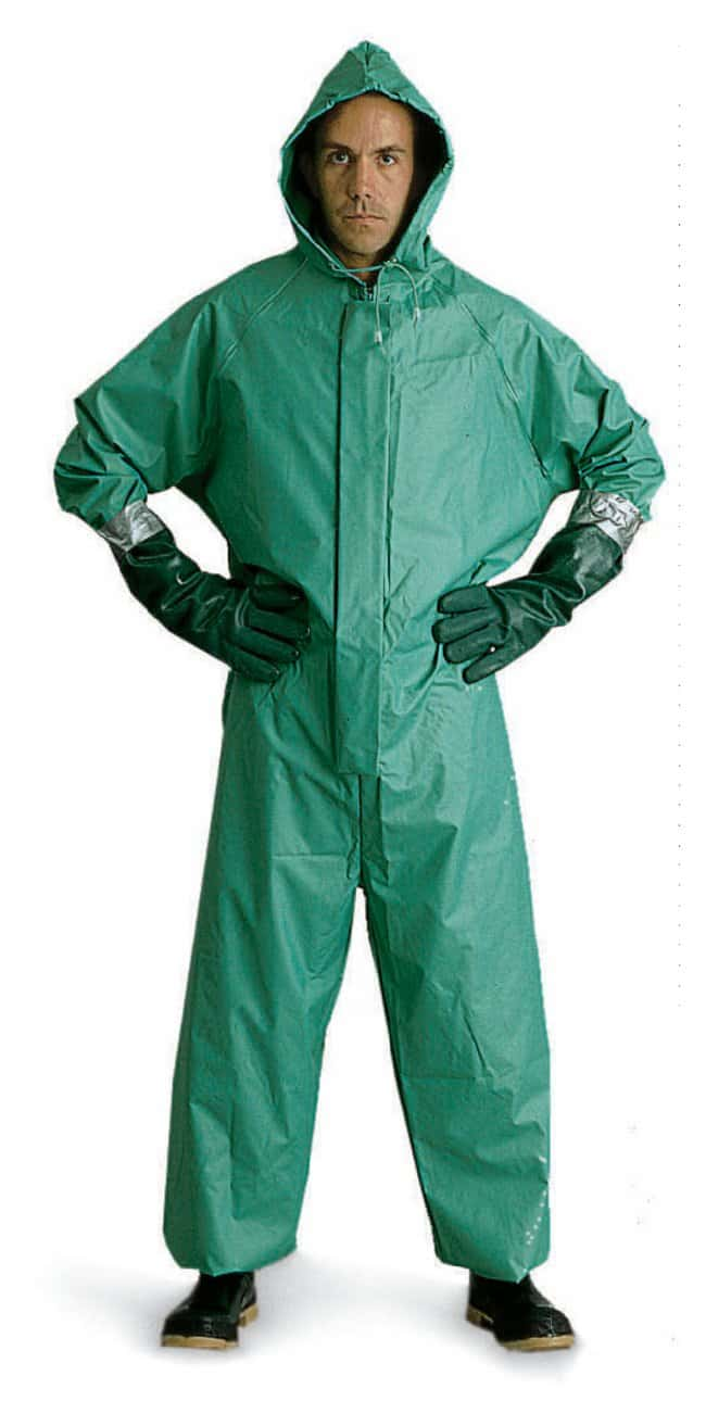 MCR Safety Acid-Resistant PVC and Nylon Coveralls Small (48 in.):Gloves,