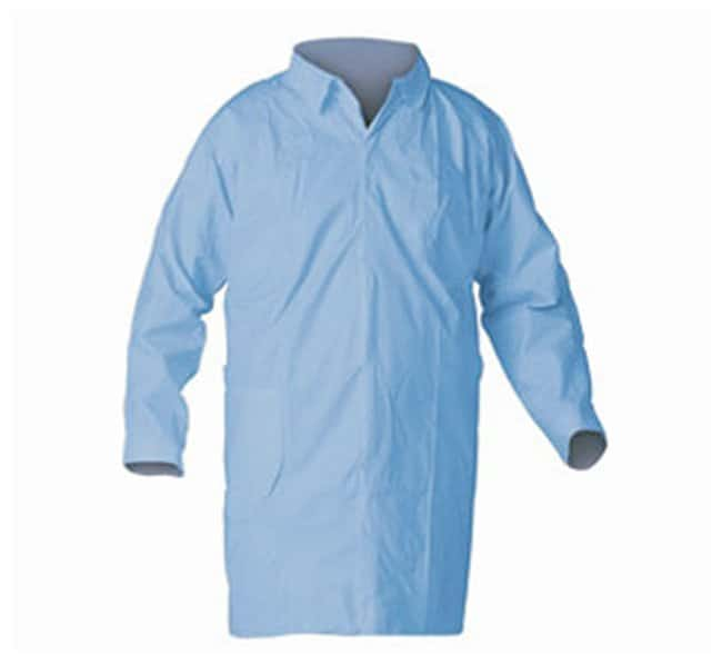 Kimberly-Clark Professional KleenGuard A65 Flame-Resistant Lab Coats Blue;