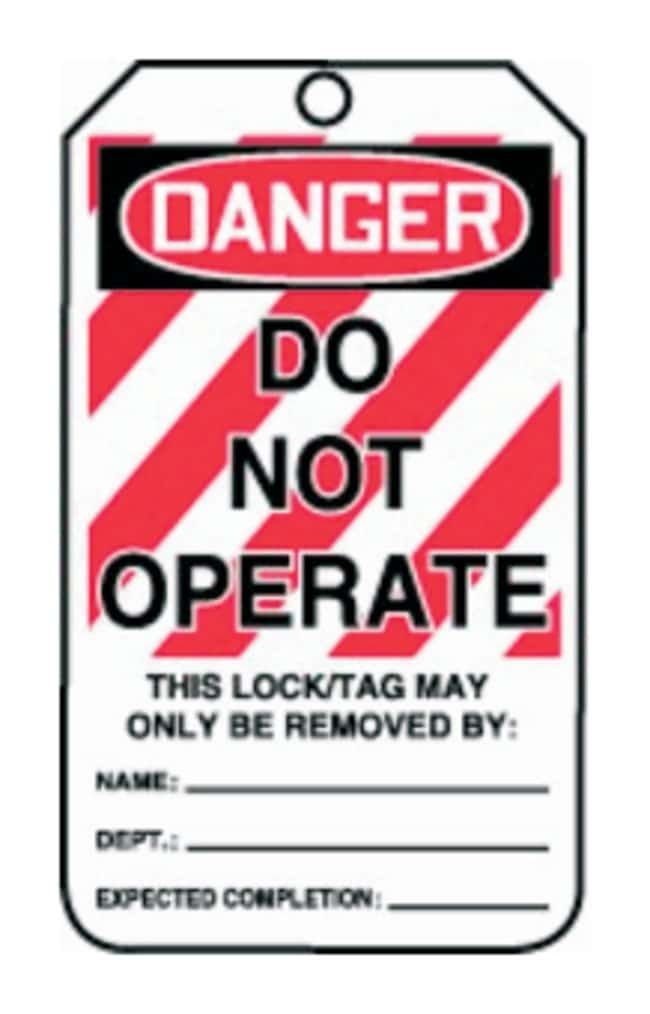Accuform Signs Danger: Do Not Operate Tags Legend: DO NOT OPERATE:Gloves,