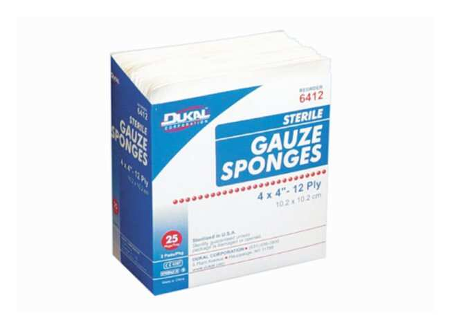 DukalSterile Gauze Sponges:First Aid and Medical:Patient Care Products