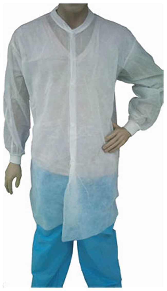 TiansEpic Spun Bonded Disposable Lab Coats Disposable Lab Coat; 5X-Large:Personal