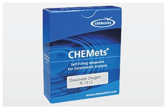 CHEMetrics Chemets Test Kit Refills Dissolved Oxygen; Indigo Carmine method;