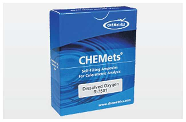 CHEMetrics Chemets Test Kit Refills Dissolved Oxygen; Rhodazine D method;