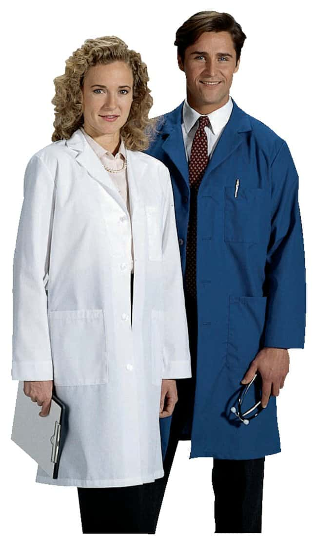 White Swan-Meta Unisex Long Lab Coats Navy; XXX-Large:Gloves ...