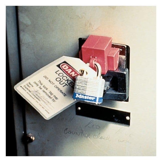 Brady™Single-Pole Breaker Lockout Oversized breaker lockout; Red Brady™Single-Pole Breaker Lockout