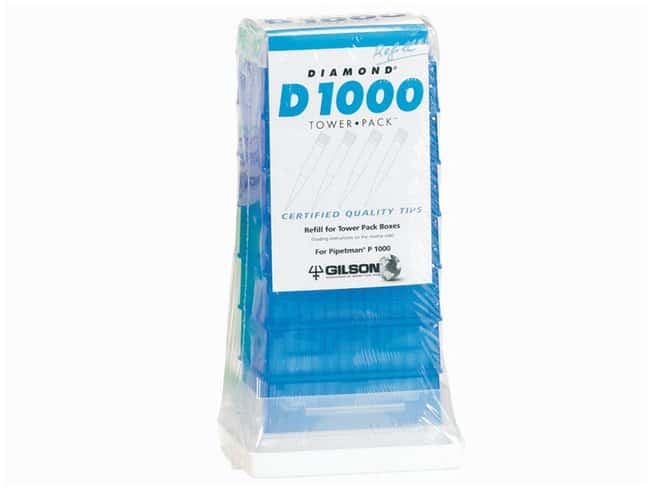Gilson™ PIPETMAN™ TOWERPACK™ Refill System For D1000 100 - 1000μL pipet tips; Autoclavable Products