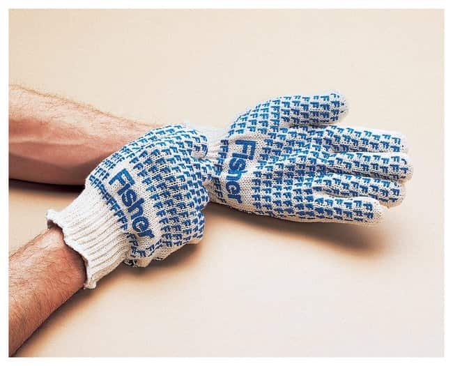 Fisherbrand Seamless Knit Cotton / Polyester Gloves with Double-Sided PVC