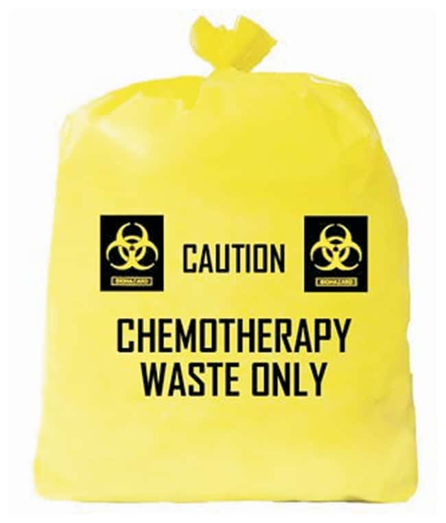 Medical Action Chemotherapy Waste Bags Chemotherapy waste bag; 4mil; Yellow;