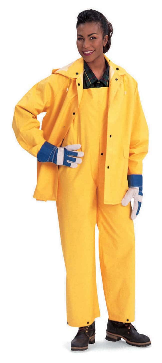 MCR Safety PVC Rainwear Three-Piece Suit with Bib Overalls, Detachable