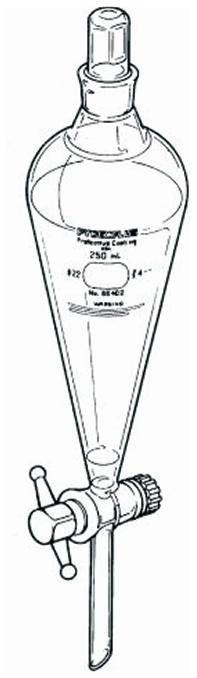 PYREXPLUS Coated Squibb Separatory Funnel with PTFE Standard Stopcock and