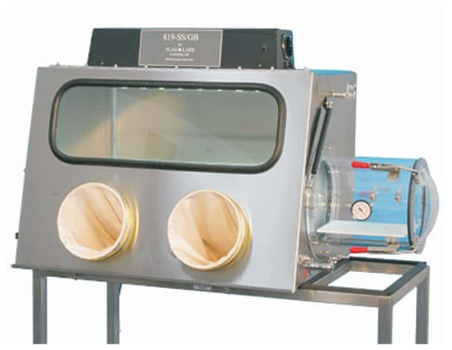 Plas Labs Model 819 Integrity Stainless-Steel Glove Box 17.3 cu.ft.; Ext