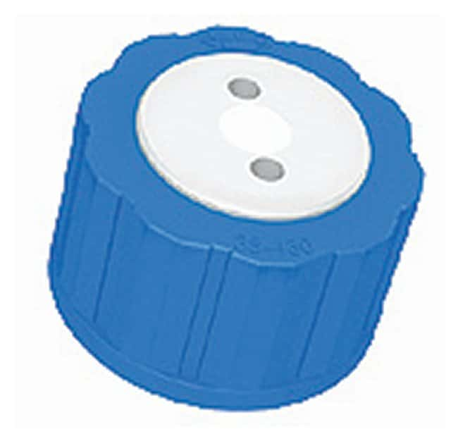 "Kinesis™ Omnifit™ ""T"" Series Bottle Caps Bottle cap; With built-in check valve and inlet filter; GL38-430; Two ports Products"