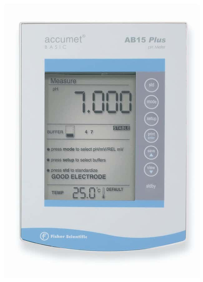 Fisherbrand accumet AB15+ Basic and BioBasic pH/mV/C Meters:Thermometers,
