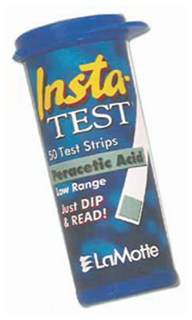 LaMotte™ Insta-Test™ Single and Multi-Factor Test Strips Single factor test: Peracetic acid; Range:  0-10-20-40-60-85-160ppm; 50 Tests/vial LaMotte™ Insta-Test™ Single and Multi-Factor Test Strips