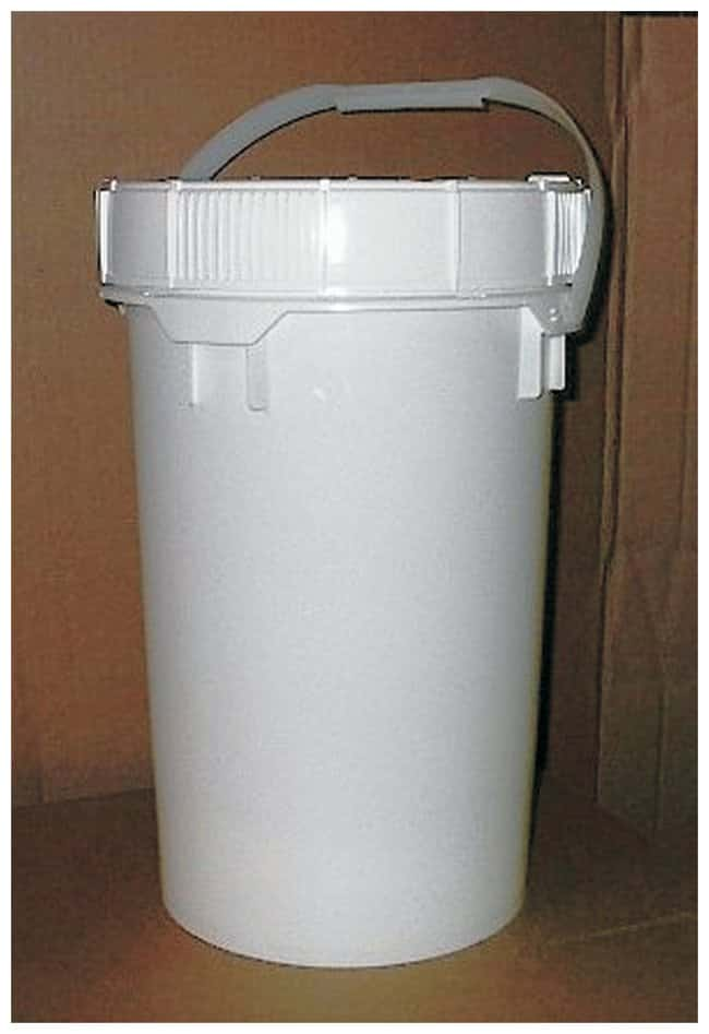 Youngstown Barrel & Drum Plastic Open Head Pails with Screw Lids 6.5 gal.;