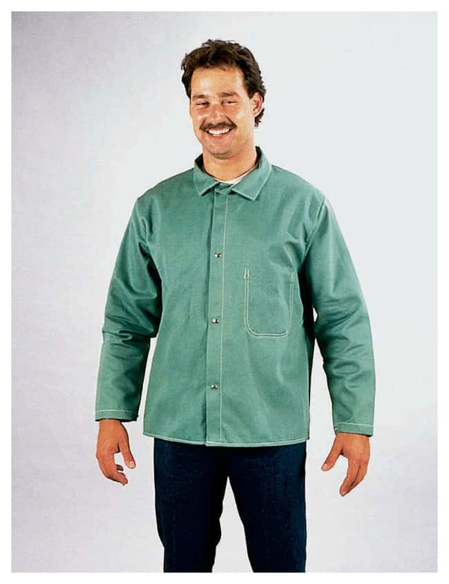 Steel Grip Flame-Resistant Welding Jackets Large (44-46 in.); Green:Gloves,