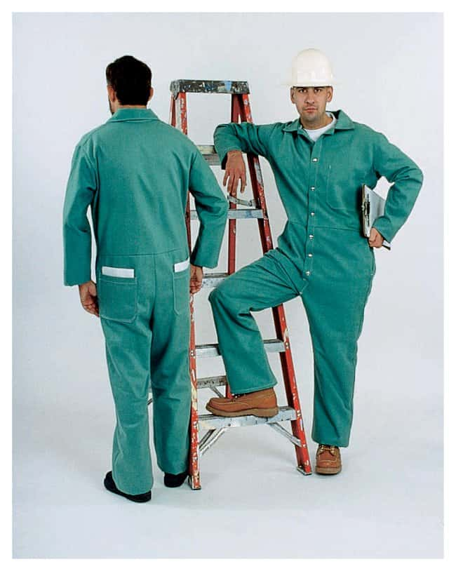 Steel Grip Flame-Resistant Cotton Coveralls Size (fits chest): 40-42 in.:Gloves,
