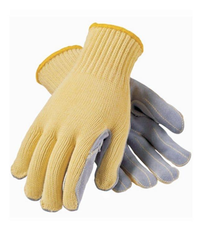 PIP Kut-Gard Aramid Fiber Cut-Resistant Leather Palm Gloves Gauge: 7; EN