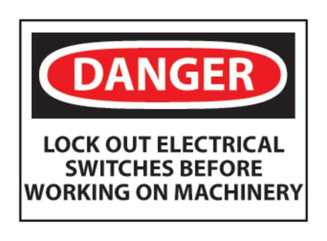 National MarkerDanger: Lock-out Electrical Switches... Signs L x W: 10