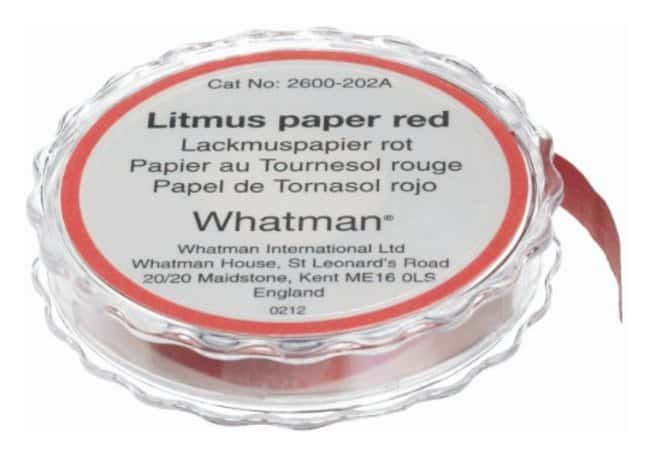 Cytiva (Formerly GE Healthcare Life Sciences)Whatman™ Acid/Alkali Test Papers Red litmus paper; Packaging: dispenser Cytiva (Formerly GE Healthcare Life Sciences)Whatman™ Acid/Alkali Test Papers