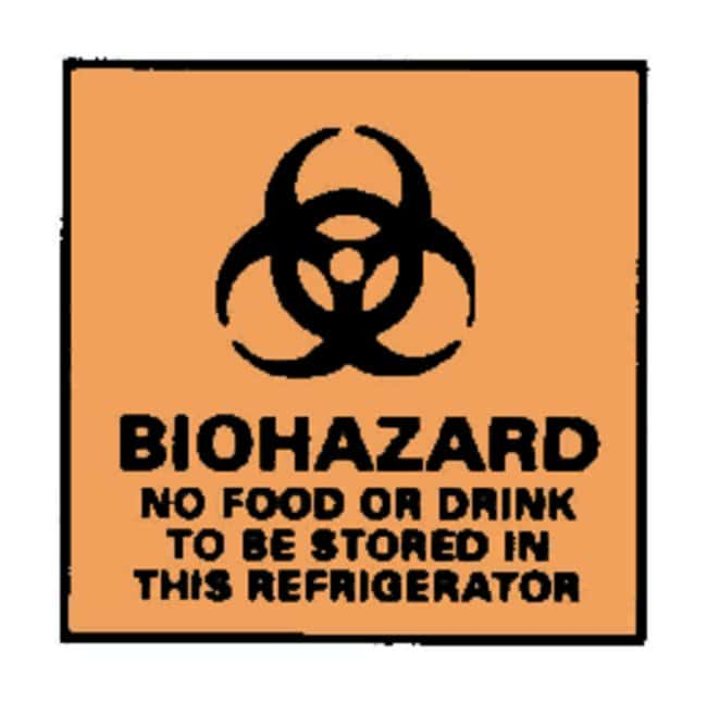 National MarkerBiohazard: No Food or Drink to be Stored Sign Biohazard