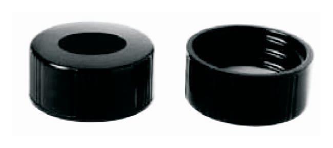 DWK Life SciencesKimble™ Black Phenolic Unlined Screw Thread Closures with Open Tops