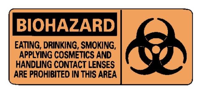 National MarkerBiohazard: No Eating, Drinking, Smoking Signs:Facility Safety