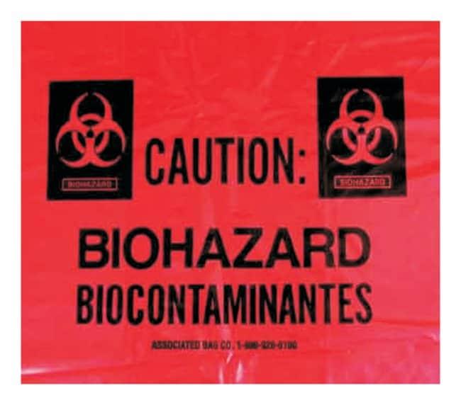 Associated Bag Biohazard/Infectious Waste Bag Liners Biohazard message