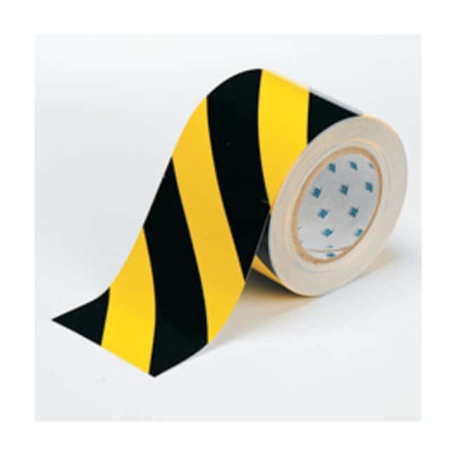 Brady™ ToughStripe™ Floor Marking Tape Width: 10.2cm (4 in).; Black/yellow Brady™ ToughStripe™ Floor Marking Tape