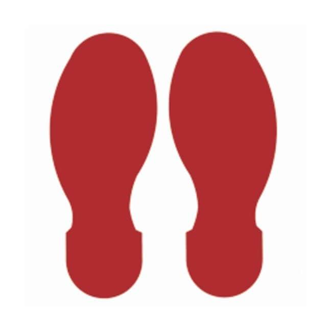 Brady™ToughStripe™ Fußabdruck zur Bodenmarkierung, Polyester Rot Brady™ToughStripe™ Fußabdruck zur Bodenmarkierung, Polyester